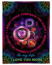 """Wife - Clock - I Wish I Could Turn Back The Clock Small Fleece Blanket - 30"""" x 40"""" front"""