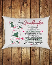 GRANDMA TO GRANDDAUGHTER - T REX - ANGEL Rectangular Pillowcase aos-pillow-rectangle-front-lifestyle-2