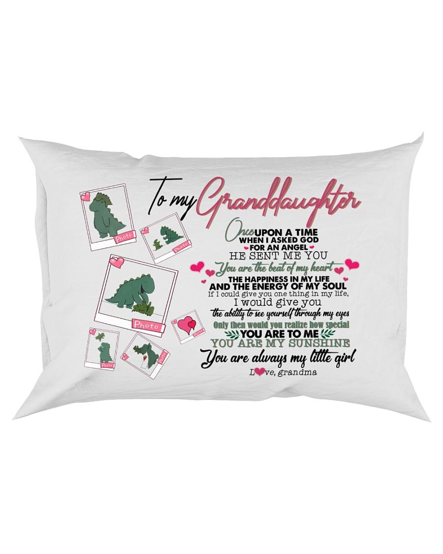 GRANDMA TO GRANDDAUGHTER - T REX - ANGEL Rectangular Pillowcase