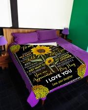 "To My Mom - Sunflower - Fleece Blanket Large Fleece Blanket - 60"" x 80"" aos-coral-fleece-blanket-60x80-lifestyle-front-01"