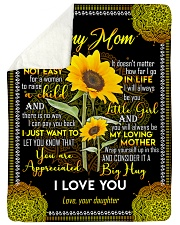 "To My Mom - Sunflower - Fleece Blanket Large Sherpa Fleece Blanket - 60"" x 80"" thumbnail"