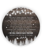 Christmas - Life Was a Little Strange This Year Circle ornament - single (wood) thumbnail