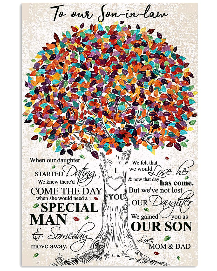 MOM AND DAD TO SON IN LAW 16x24 Poster
