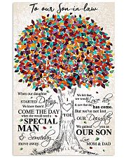 MOM AND DAD TO SON IN LAW 16x24 Poster front