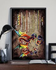 TO MY SON - DRAGON - ALWAYS REMEMBER HOW MUCH 16x24 Poster lifestyle-poster-2