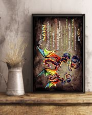 TO MY SON - DRAGON - ALWAYS REMEMBER HOW MUCH 16x24 Poster lifestyle-poster-3