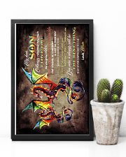 TO MY SON - DRAGON - ALWAYS REMEMBER HOW MUCH 16x24 Poster lifestyle-poster-8