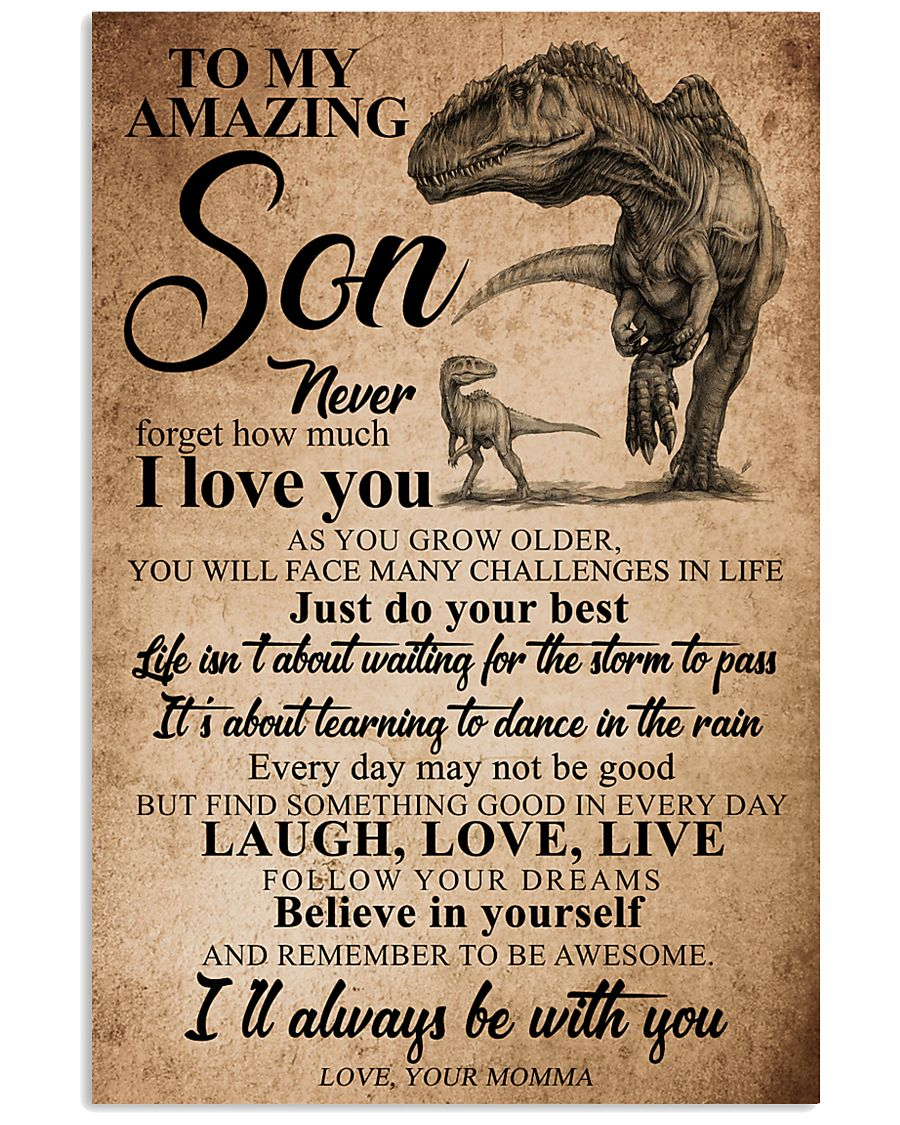 MOMMA TO SON 16x24 Poster