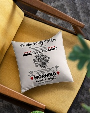 TO MY MOTHER - SUNFLOWER - OUR LOVE WITHIN IT Square Pillowcase aos-pillow-square-front-lifestyle-07