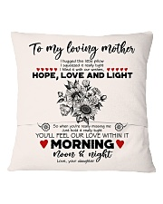 TO MY MOTHER - SUNFLOWER - OUR LOVE WITHIN IT Square Pillowcase back