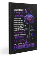 Angel - Galaxy Rose - I Miss You - Poster Gallery Wrapped Canvas Prints tile