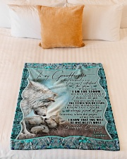 """Grandma to Granddaughter - I Am The Storm  Small Fleece Blanket - 30"""" x 40"""" aos-coral-fleece-blanket-30x40-lifestyle-front-04"""