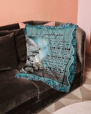 """Grandma to Granddaughter - I Am The Storm  Small Fleece Blanket - 30"""" x 40"""" aos-coral-fleece-blanket-30x40-lifestyle-front-05"""