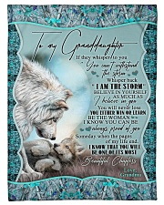"""Grandma to Granddaughter - I Am The Storm  Small Fleece Blanket - 30"""" x 40"""" front"""