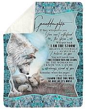 "Grandma to Granddaughter - I Am The Storm  Large Sherpa Fleece Blanket - 60"" x 80"" thumbnail"