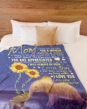 """To My Mom - Elephant - Fleece Blanket Large Fleece Blanket - 60"""" x 80"""" aos-coral-fleece-blanket-60x80-lifestyle-front-02"""