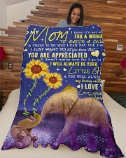 "To My Mom - Elephant - Fleece Blanket Large Fleece Blanket - 60"" x 80"" aos-coral-fleece-blanket-60x80-lifestyle-front-04"