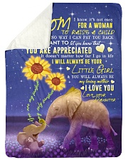 "To My Mom - Elephant - Fleece Blanket Large Sherpa Fleece Blanket - 60"" x 80"" thumbnail"