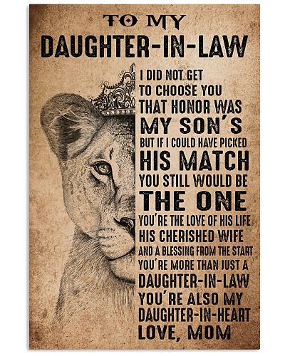 TO MY DAUGHTER-IN-LAW - LION - THE ONE