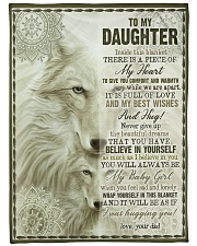 """To My Daughter - Inside This Blanket  Large Fleece Blanket - 60"""" x 80"""" front"""