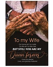 To My Wife - You Are My Queen Forever - Poster 16x24 Poster front