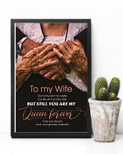 To My Wife - You Are My Queen Forever - Poster 16x24 Poster lifestyle-poster-8
