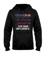 Grandma The woman The myth The bad influence Hooded Sweatshirt thumbnail