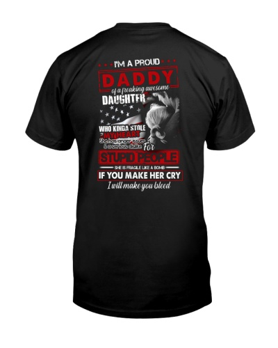 T-SHIRT - TO MY DAUGHTER - I'M A PROUD DADDY