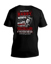 T-SHIRT - TO MY DAUGHTER - I'M A PROUD DADDY V-Neck T-Shirt thumbnail