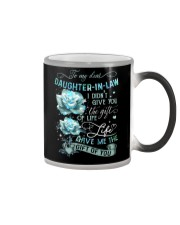 To My Daughter-in-law - Galaxy Rose Color Changing Mug tile