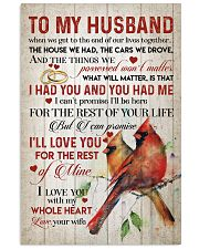 TO MY HUSBAND - CARDINALS - I LOVE YOU 16x24 Poster front