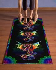 Dragon - Mandala - Yoga Mat Yoga Mat 24x70 (vertical) aos-yoga-mat-lifestyle-26