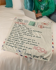 "Gift For Son - Fleece Blanket Small Fleece Blanket - 30"" x 40"" aos-coral-fleece-blanket-30x40-lifestyle-front-07"