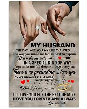 TO MY HUSBAND - HAND IN HAND - I LOVE YOU 16x24 Poster front
