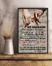 TO MY HUSBAND - HAND IN HAND - I LOVE YOU 16x24 Poster lifestyle-poster-3