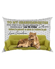 Grandma to Granddaughter - I Am The Storm Rectangular Pillowcase back