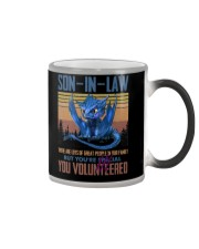 SON-IN-LAW - DRAGON - VINTAGE - YOU VOLUNTEERED Color Changing Mug thumbnail