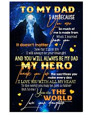 TO MY DAD - WOLF - MY LOVING FATHER 16x24 Poster front