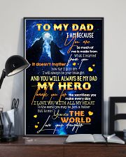 TO MY DAD - WOLF - MY LOVING FATHER 16x24 Poster lifestyle-poster-2
