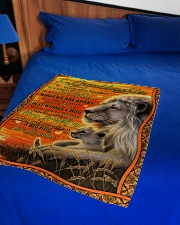 """Grandma to Granddaughter - Best Wishes And Hug Small Fleece Blanket - 30"""" x 40"""" aos-coral-fleece-blanket-30x40-lifestyle-front-02"""