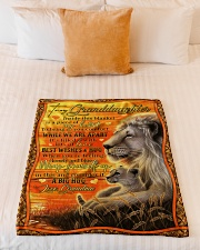 """Grandma to Granddaughter - Best Wishes And Hug Small Fleece Blanket - 30"""" x 40"""" aos-coral-fleece-blanket-30x40-lifestyle-front-04"""
