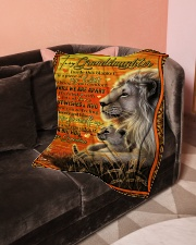 """Grandma to Granddaughter - Best Wishes And Hug Small Fleece Blanket - 30"""" x 40"""" aos-coral-fleece-blanket-30x40-lifestyle-front-05"""