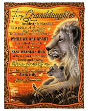 """Grandma to Granddaughter - Best Wishes And Hug Small Fleece Blanket - 30"""" x 40"""" front"""