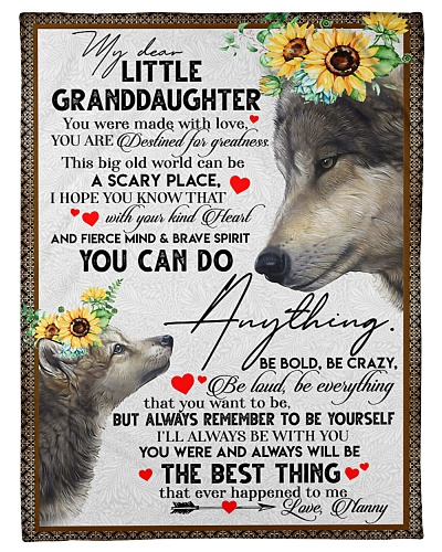 MY DEAR LITTLE GRANDDAUGHTER - WOLVES