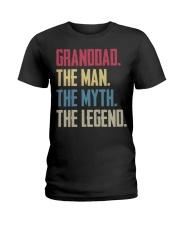 GRANDDAD - THE MYTH - THE LEGEND Ladies T-Shirt thumbnail