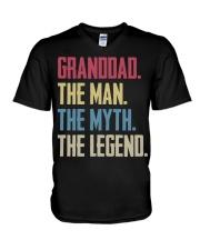 GRANDDAD - THE MYTH - THE LEGEND V-Neck T-Shirt thumbnail
