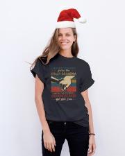 GRANDMA - VINTAGE - CRAZY GRANDMA Classic T-Shirt lifestyle-holiday-crewneck-front-1