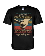 GRANDMA - VINTAGE - CRAZY GRANDMA V-Neck T-Shirt thumbnail