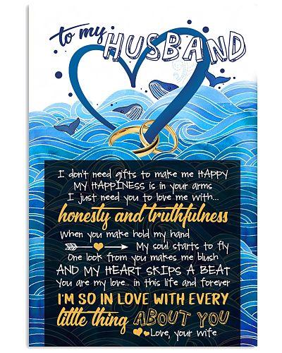 TO MY HUSBAND - BLUE WHALE - I LOVE YOU