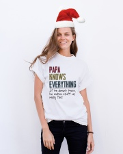 Papa knows everything If he doesn't know Classic T-Shirt lifestyle-holiday-crewneck-front-1